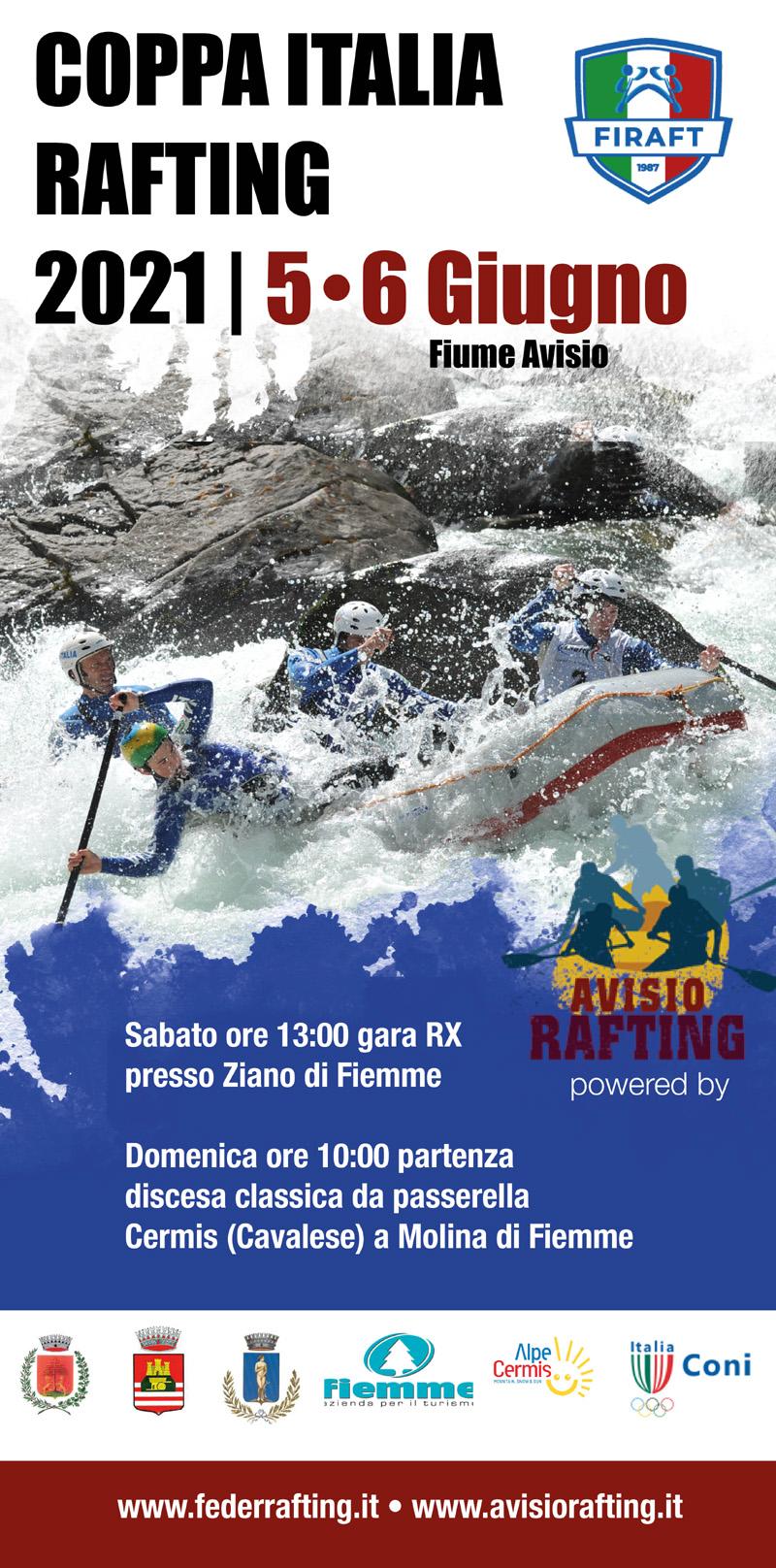 CAMPIONATO ITALIANO RAFTING 2021 Fiume Avisio - 05/06/2021